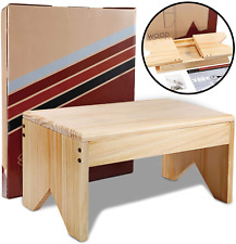 Wooden Step Stool For Adults - Very Study, Bed Stool For High Beds, Kitchen,