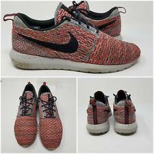 """Nike Roshe Run Flyknit Bbright Crimson"""" Running Shoes (677243-602) Mens Size 9"""