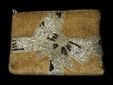 Neiman Marcus Reg Beaded Clutch Bag Christmas Gift Bow