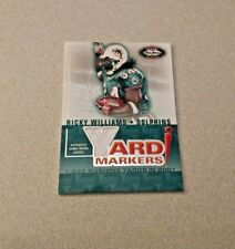2002 Fleer Box Score Yard Markers Ricky Williams Dolphins Jersey Card