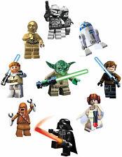 STAR WARS LEGO STICKER WALL DECO LUKE HAN SOLO LOT CP30