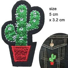 Cactus patch iron on prickly hurt tequila desert sting plant embroidery patches