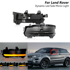 2x Dynamic Led Side Mirror Blinker Lights For Land Rover Discovery Sport Evoque