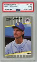 Randy Johnson 1989 Fleer Update #U-59 RC Rookie (Mariners) HOF PSA 9 MINT