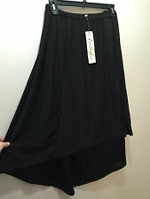 BNWT Womens Sz 22 Autograph Brand Black High Low Hem Elastic Waist Skirt RRP $60