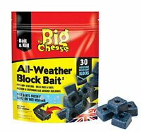 The Big Cheese All-Weather Block Bait 30 Pack STV213 Mouse Rat Rodent Killer