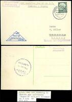 "1960 GERMANY, Hamburg Flughafen Postcard to DHARAN, SUPER-G LUFTHANSA, ""Retour""!"