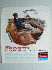Prospekt 1963 Oldsmobile Sports Cars: Starfire, Cutlass, Jetfire, 1963, 30x27 cm