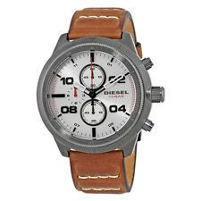 Diesel Padlock Silver Dial Mens Chronograph Watch DZ4438