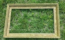 RARE vtg Heavy Wood Gilt Gesso Frame Fits an 18 x 30 mirror or painting antique