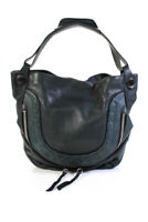Oryany Womens Leather Zippered Dark Green Large Shoulder Hangbag