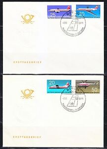 Germany DDR 1969 FDC covers Mi 1524-1527 Sc 1156-1159 planes,helicopter