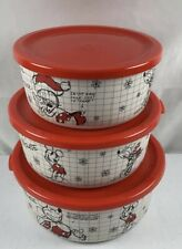 New listing Disney Mickey Minnie Mouse Sketchbook Food Storage Container Set Christmas