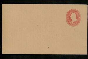 US Postal Stationery U234 Mint Envelope Entire 2c Red on Fawn Jefferson