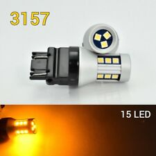 Front Signal T25 3057 3157 3457 4157 LED Amber Bulb OSRAM 15 SMD B1 For Ford