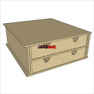 2 Drawer Flat Bobbin/Thread Cotton Storage Unit for Craft etc