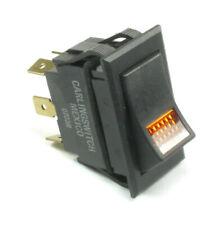 Carling Lighted Rocker Switch Amber Jewel DPST ON/OFF Lamp LTIGK51-6M-BL-AM-NBL