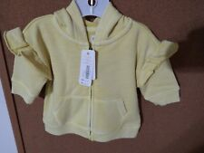 NWT Gymboree Baby Infant Girls Yellow White Hooded Jacket Size 0-3 Months NEW