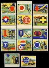"""USA Poster Stamps - WWII Patriotics - """"The Spirit of '42"""" - 14 Different"""