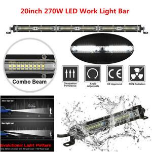 "20"" 270W Car LED Work Light Bar Spot Flood Combo Beams For Off-road SUV Truck"