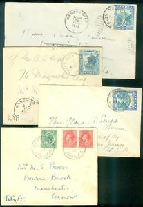 JAMAICA : 4 nice covers from the 1930s