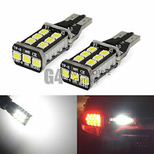 2x T15 921 Canbus LED Bulbs 900LM 15W 2835 SMD Back up Reverse Light XENON White