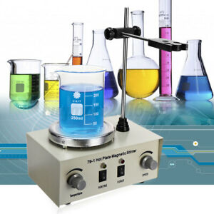 1000ml Hot Plate Magnetic Stirrer Lab Heating Dual Control Mixer Adjustable ✤✤