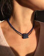 collar lapislazuli pirita