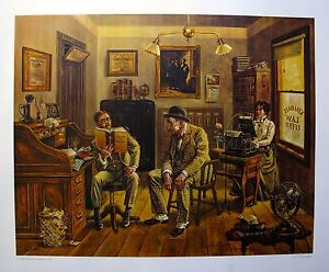 LEE DUBIN Hand Signed L/E Lithograph ASSAULT & BATTERY LAWYERS OFFICE ATTORNEY