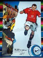 ✺New✺ WAYNE ROONEY Nike Football Poster 84x59cm England Manchester United Soccer