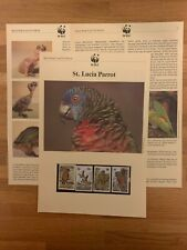 ST LUCIA 1987 PAGES x 6 MNH WWF BIRDS PARROT