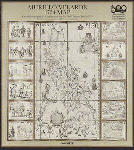 2021 Philippines Murillo VELARDE 1734 Map of YSLAS FILIPINAS, Manila mint NH