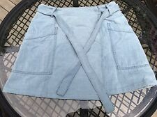 Madison Margiela MM6 Light Denim Skirt With Tying Belt Blue Italy Size 40 Womans