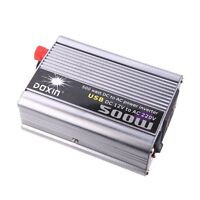 DOXIN 500W (max) WATT DC 12V to 220V portable AC car Inverter Charger conve W7D3
