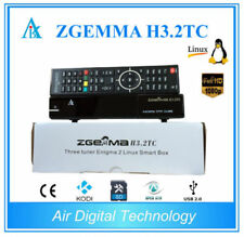 New Zgemma H3.2TC FTA HD Triple Tuner Receiver OS DVB-S2+ 2 x DVB-T2 H5.2TC
