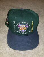 Vtg 1997 NFL Superbowl XXXI New Era Strapback Hat Superdome New Orleans 90s