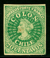 CHILE 1900s  COLUMBUS  20c green - UNOFFICIAL REPRINT