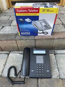 AGFEO ST 30 System-Telefon ISDN schwarz Gebraucht.