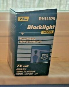Phillips 75w Black Light Bulb NEW  in box hard to find Party & deco