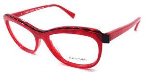 Alain Mikli Rx Eyeglasses Frames A02019 1056 54x16 Marbled Red / Matte Black