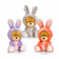 Keel Quality Pipp The Teddy Bear in Rabbit Suit Cuddly Soft Toy Gift 14 cm