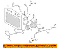 TOYOTA OEM Air Conditioner-Pressure Cut-off Switch 8864560030