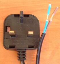 3 Pin Plug 13 Amp Fully Moulded with 1m cable TV Radio Hifi DVD Audio Electrical