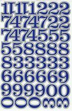 PLANCHE A4 TUNING QUAD 51 AUTOCOLLANT STICKER CHIFFRE BLEU ET GRIS 3 X 2,5 CMS