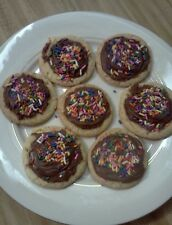 Homemade BIRTHDAY CAKE Cookies with Homemade Chocolate Icing!! 3 Dozen!