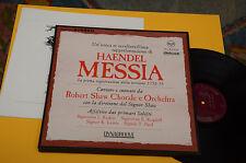 HAENDEL MESSIA 3LP+BOOK ORIG ITALY '70 NM CLASSICA LIRICA DYNAGROOVE