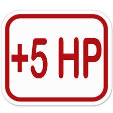 "Plus 5 HP Horsepower Styling car bumper sticker decal 5"" x 4"""