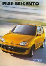 Fiat Seicento S SX Citymatic Sporting 1998-2000 original UK Sales Brochure