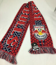 NWT Adiddas Official Sport Fan Red Bull New York Winter Scarf Spell Out