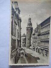 Ansichtskarte Halle Saale Leipziger Turm und Straße 1942